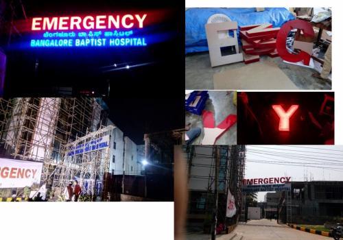 Acrylic led signage with ACP sheet cladding work